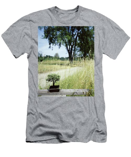 A Bonsai Tree In A Hayfield Men's T-Shirt (Athletic Fit)
