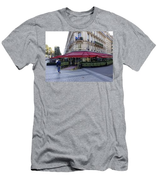 A Cafe On The Champs Elysees In Paris France Men's T-Shirt (Athletic Fit)