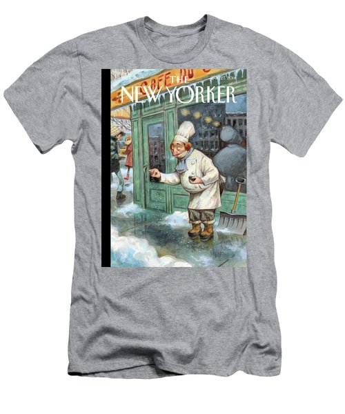 A Chef Lightly Pinches Salt On The Sidewalk Men's T-Shirt (Athletic Fit)