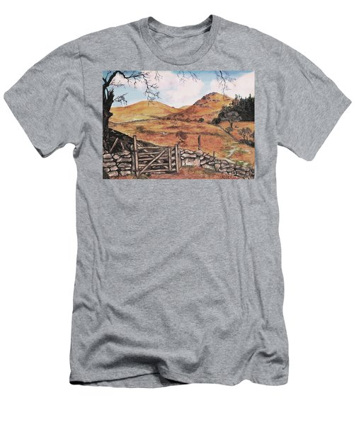 A Day In The Country Men's T-Shirt (Slim Fit) by Sophia Schmierer