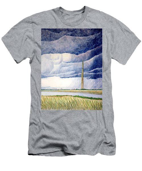 A Finger To The Sky Men's T-Shirt (Slim Fit) by A  Robert Malcom