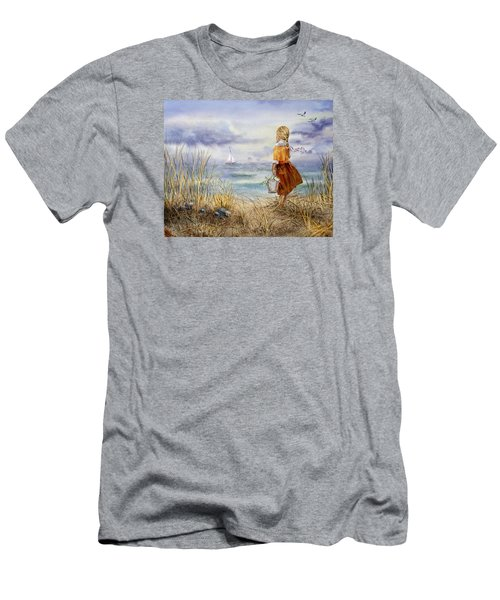 A Girl And The Ocean Men's T-Shirt (Athletic Fit)