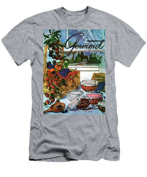 A Gourmet Cover Of A Fruit Basket Men's T-Shirt (Athletic Fit)