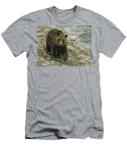 A Grey And Grizzly Day Men's T-Shirt (Athletic Fit)