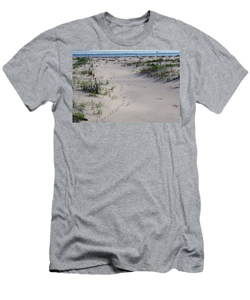Men's T-Shirt (Slim Fit) featuring the photograph A Gull's Walk To The Ocean by Greg Graham