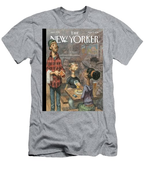 A Hipster Samples Craft Beer Men's T-Shirt (Athletic Fit)