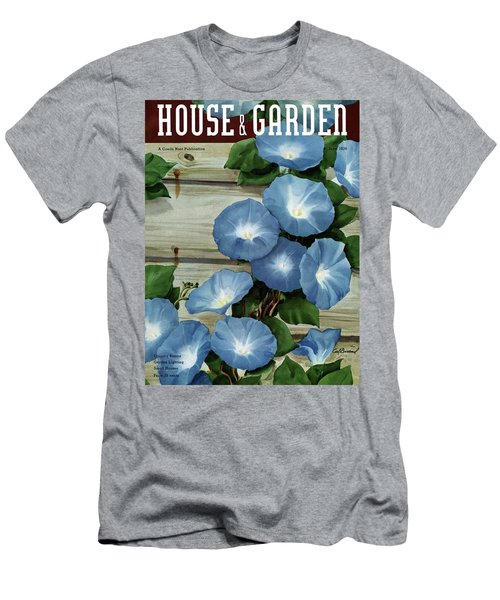 A House And Garden Cover Of Flowers Men's T-Shirt (Athletic Fit)