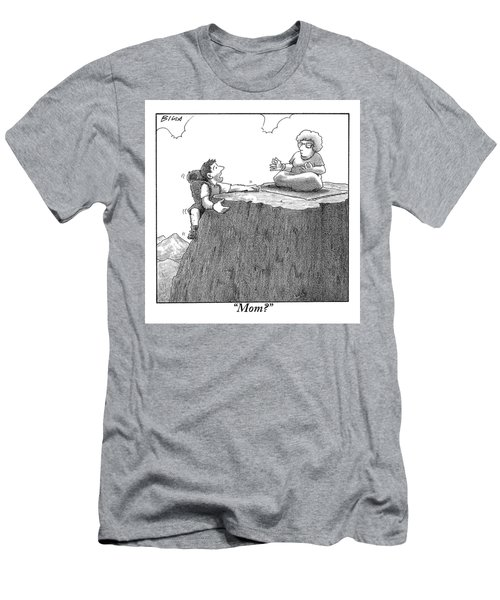 A Man Ascends A Mountain To Discover His Mother Men's T-Shirt (Athletic Fit)