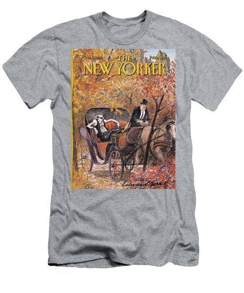 A Mohawked Punk Sitting In The Back Of A Horse Men's T-Shirt (Athletic Fit)