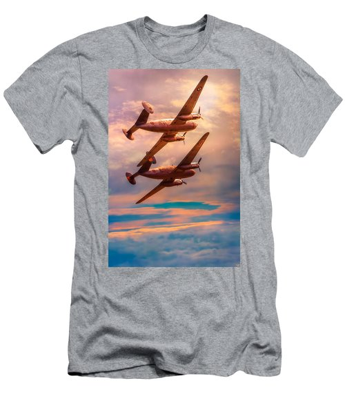 Men's T-Shirt (Slim Fit) featuring the photograph A Pair Of Flamingos by Chris Lord
