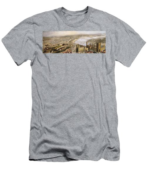 A Panoramic View Of London Men's T-Shirt (Slim Fit) by English School