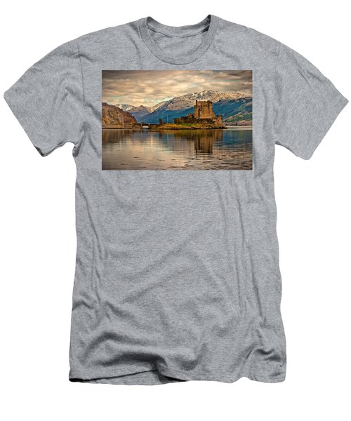 A Reflection At Eilean Donan Castle Men's T-Shirt (Athletic Fit)
