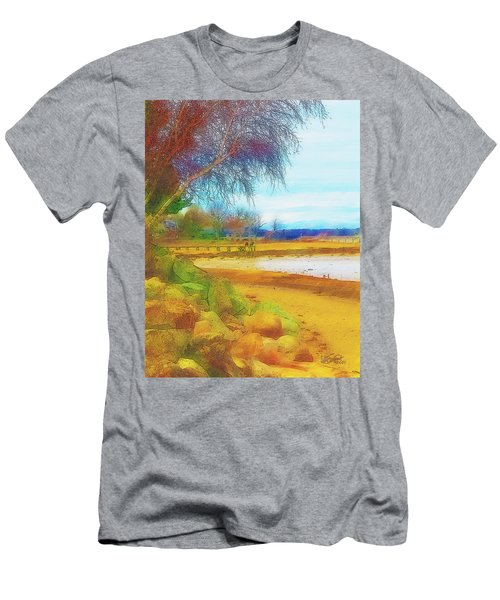 A Rocky Beach Men's T-Shirt (Athletic Fit)