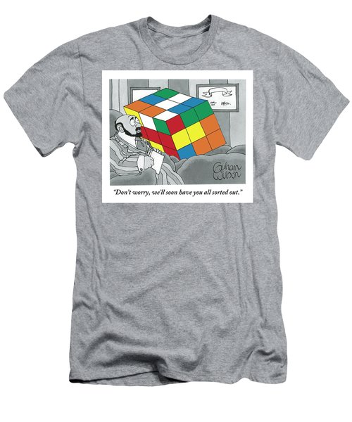 A Rubik's Cube Is Seen In A Psychiatrist's Office Men's T-Shirt (Athletic Fit)