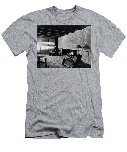 A Rustic Living Room Men's T-Shirt (Athletic Fit)
