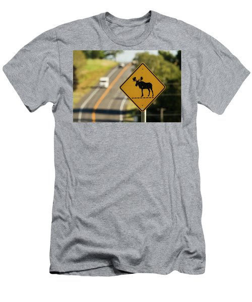 A Sign For Moose In Maine Men's T-Shirt (Athletic Fit)