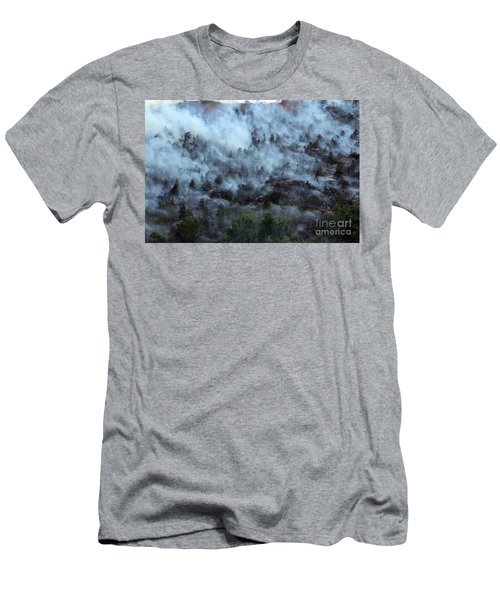 A Smoky Slope On White Draw Fire Men's T-Shirt (Athletic Fit)