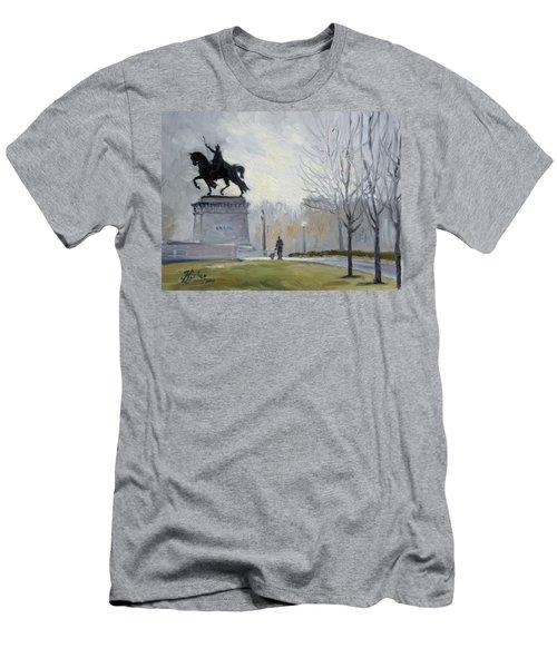 A Walk In Forest Park In St.louis Men's T-Shirt (Slim Fit) by Irek Szelag