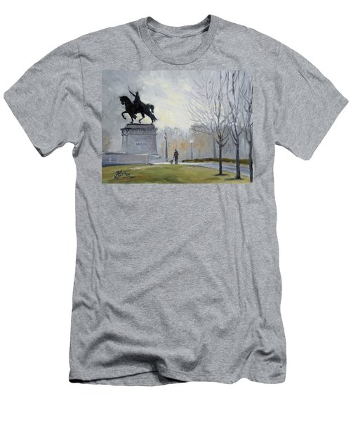 A Walk In Forest Park In St.louis Men's T-Shirt (Athletic Fit)