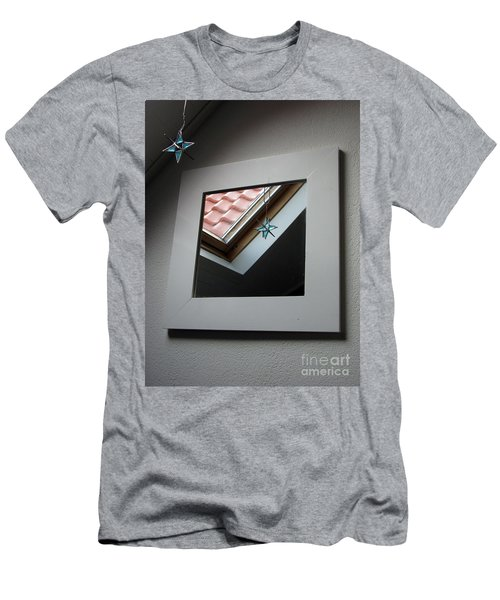 Men's T-Shirt (Athletic Fit) featuring the photograph A Window To Parallel World by Ausra Huntington nee Paulauskaite