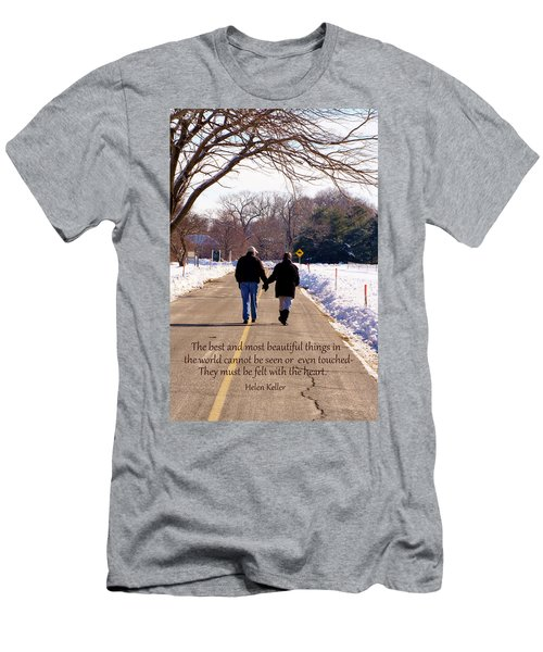 A Winter Walk/inspirational Men's T-Shirt (Athletic Fit)
