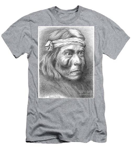 Shadow Catcher, A Zuni Governor Men's T-Shirt (Slim Fit) by Bill Hubbard