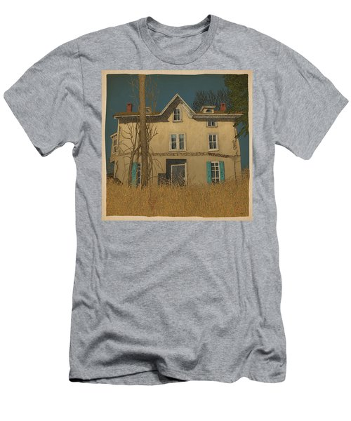 Men's T-Shirt (Slim Fit) featuring the drawing Abandoned by Meg Shearer