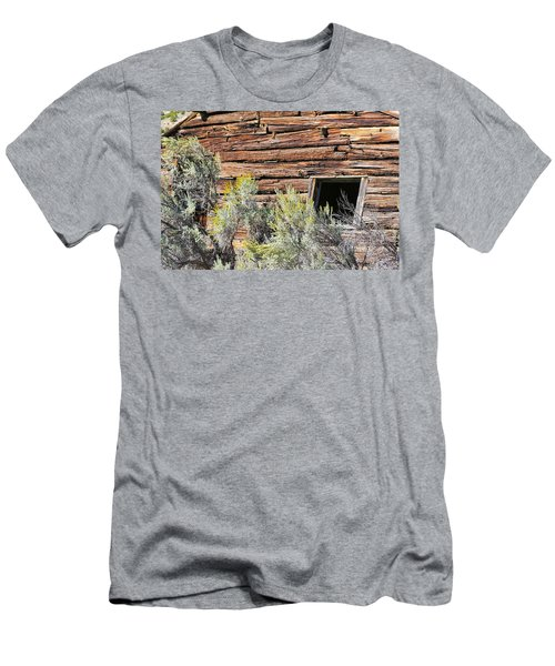 Men's T-Shirt (Athletic Fit) featuring the photograph Abandoned Shack by Susan Leonard