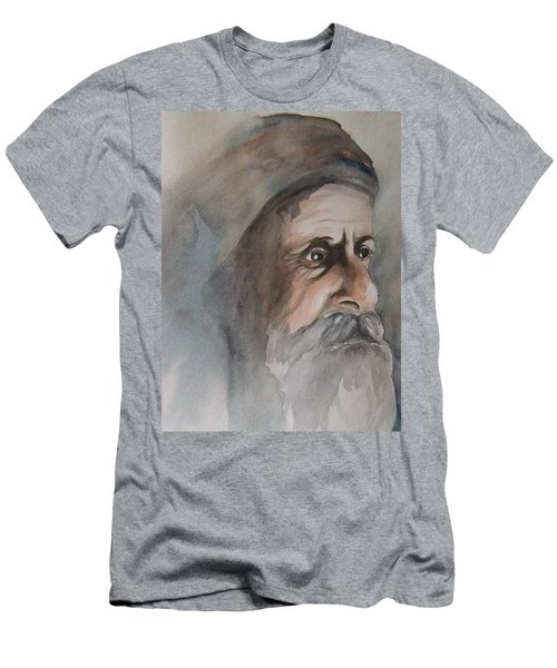 Abraham Men's T-Shirt (Slim Fit) by Annemeet Hasidi- van der Leij