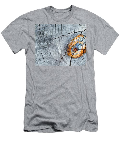 Abstract Woodgrain Upclose 6 Men's T-Shirt (Athletic Fit)