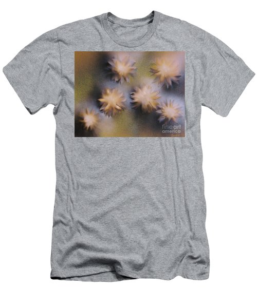 Abstract Yellow Flowers Men's T-Shirt (Slim Fit)