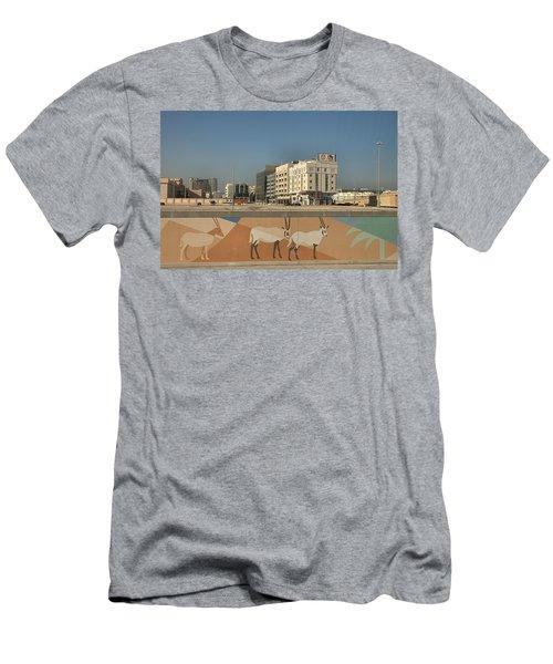 Abu Dhabi Outskirts Men's T-Shirt (Athletic Fit)