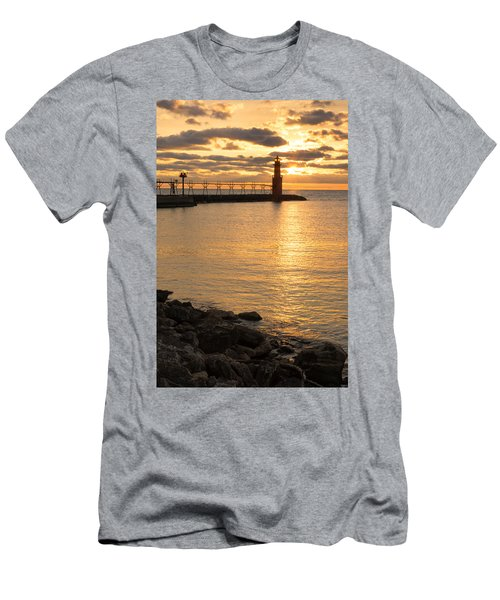 Across The Harbor Men's T-Shirt (Athletic Fit)