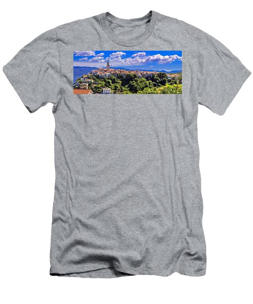 Adriatic Town Of Vrbnik Panoramic View Men's T-Shirt (Athletic Fit)