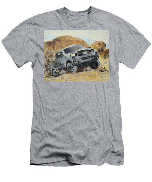 Men's T-Shirt (Athletic Fit) featuring the painting Adventure Awaits by Maria Langgle