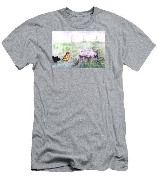 Adventurous Chicks Men's T-Shirt (Slim Fit)
