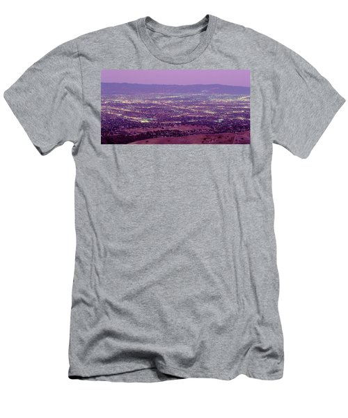 Aerial Silicon Valley San Jose Men's T-Shirt (Athletic Fit)