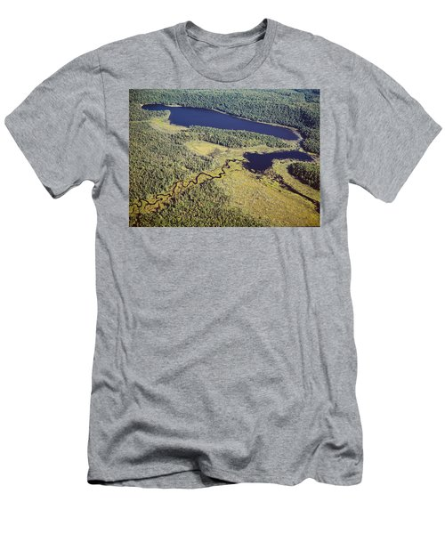 Aerial View Of A Lake, Algonquin Men's T-Shirt (Athletic Fit)