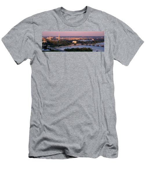 Aerial, Washington Dc, District Of Men's T-Shirt (Slim Fit) by Panoramic Images