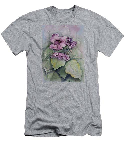 African Violets Men's T-Shirt (Athletic Fit)