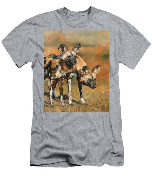 African Wild Dogs Men's T-Shirt (Athletic Fit)