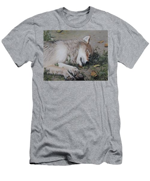 Men's T-Shirt (Athletic Fit) featuring the painting Afternoon Nap by Tammy Taylor
