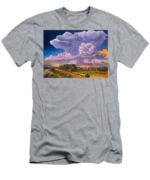 Men's T-Shirt (Slim Fit) featuring the painting Afternoon Thunder by Art James West