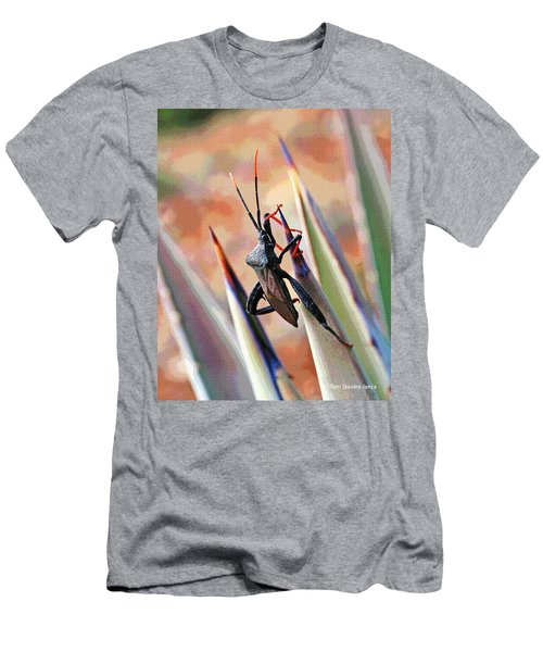 Men's T-Shirt (Slim Fit) featuring the photograph Agave Bug  by Tom Janca