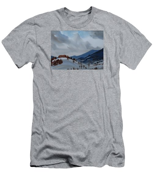 Men's T-Shirt (Slim Fit) featuring the painting Airyhill by Len Stomski