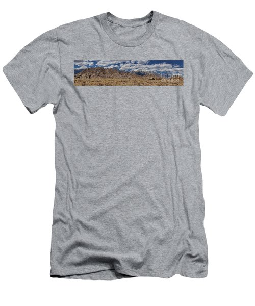 Alabama Hills And Eastern Sierra Nevada Mountains Men's T-Shirt (Slim Fit) by Peggy Hughes