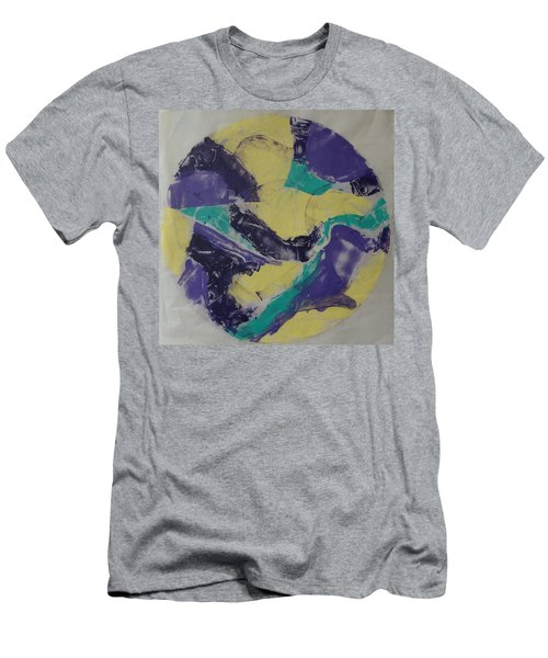 Men's T-Shirt (Slim Fit) featuring the painting Albers Effort by Erika Chamberlin