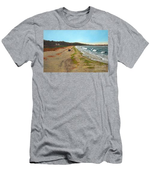 Along The Shore In Hyde Hole Beach Rhode Island Men's T-Shirt (Athletic Fit)