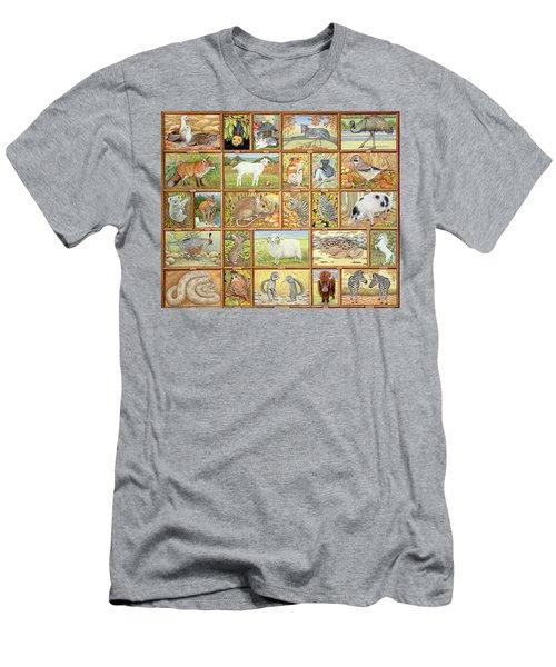 Alphabetical Animals Men's T-Shirt (Athletic Fit)