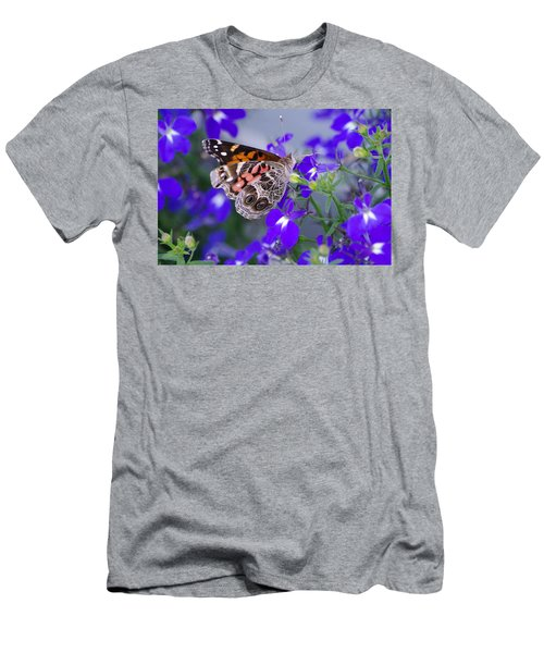 American Lady On Lobelia Men's T-Shirt (Athletic Fit)